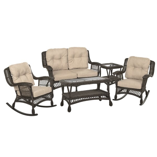Sherita 5 Piece Sofa Seating Group with Cushions by Highland Dunes Highland Dunes