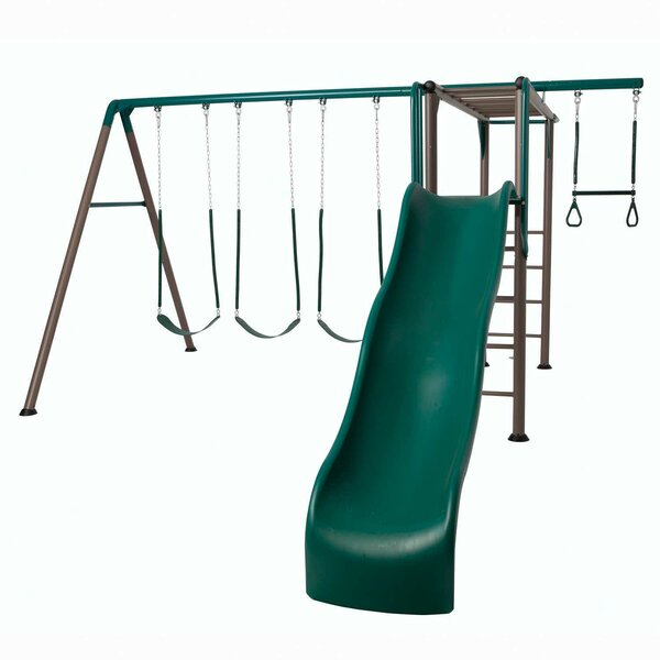Earthtone Monkey Bar Adventure Swing Set by Lifetime