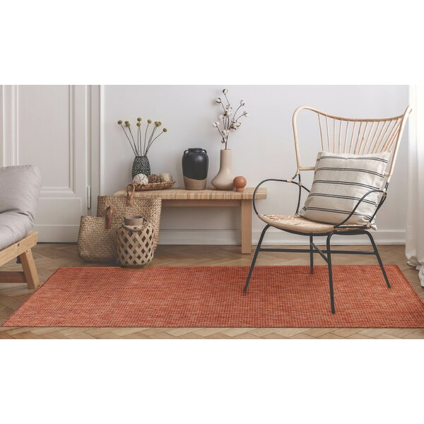 Desantiago Texture Stripe Red Indoor/Outdoor Area Rug by Highland Dunes