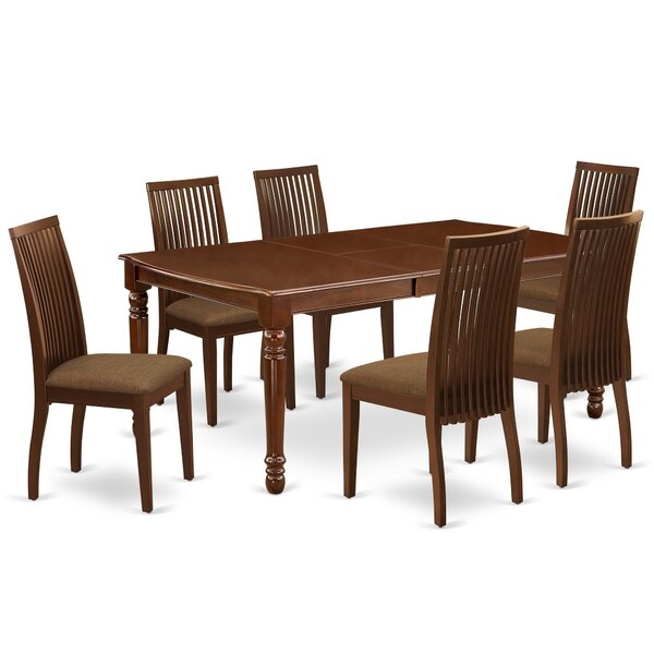 Stouffville 7 Piece Extendable Solid Wood Dining Set by Winston Porter Winston Porter