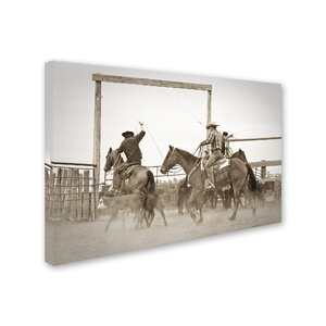 'Red Top Ranch' Photographic Print on Wrapped Canvas by Trademark Fine Art