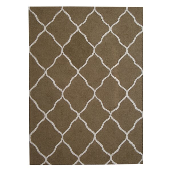 Hand-Tufted Green/Beige Indoor Area Rug by Herat Oriental