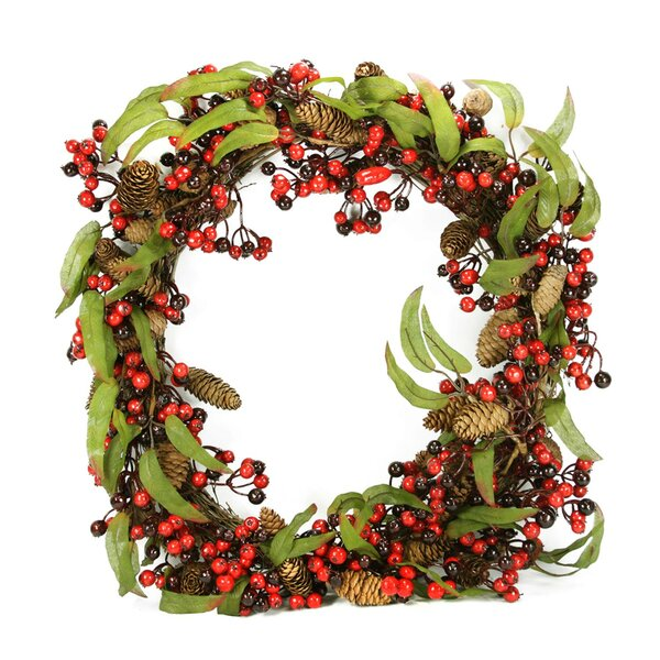 24 Artificial Berry and Pine Cone Christmas Wreath by Northlight Seasonal