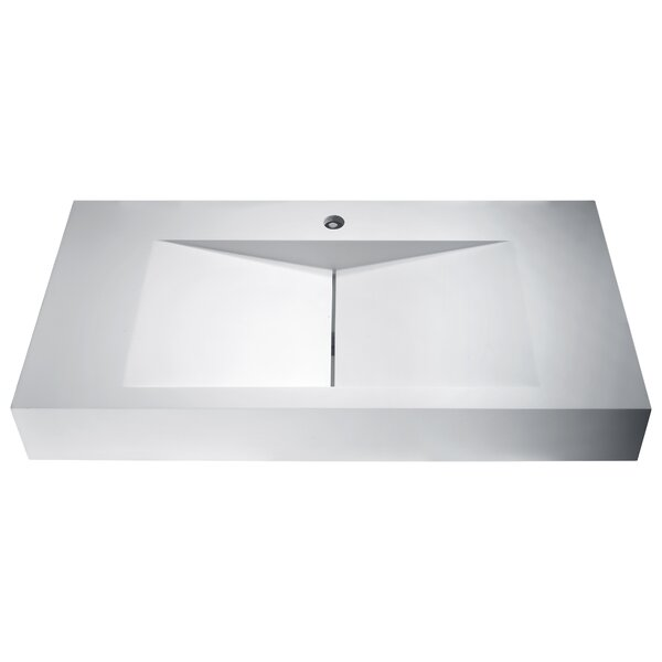 Althea Plastic Rectangular Vessel Bathroom Sink by ANZZI