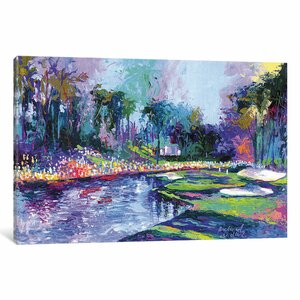 Golf Hole I Painting Print on Wrapped Canvas by East Urban Home