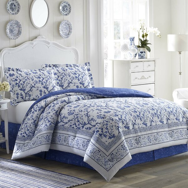 Charlotte Reversible Comforter Set by Laura Ashley Home by Laura Ashley Home