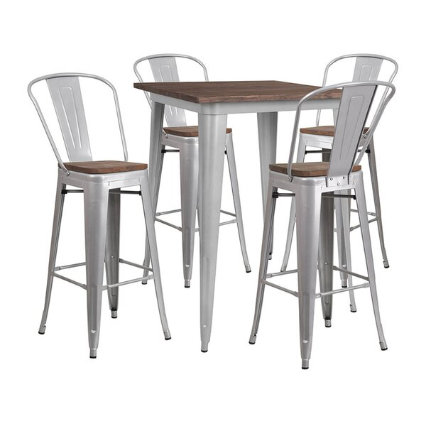 Mudd Square 5 Piece Pub Table Set by Williston Forge