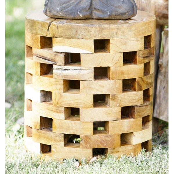 Puzzle Teak Round Stool by Garden Age