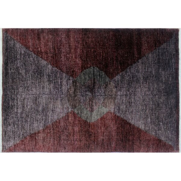 One-of-a-Kind Overdyed Afif Hand-Knotted Purple Area Rug by Noori Rug