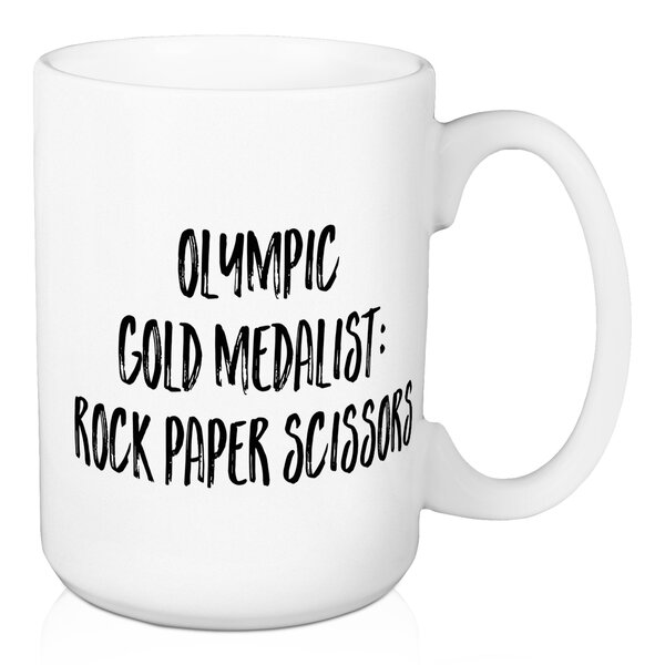 Drakes Olympic Gold Medalist: Rock Paper Scissors Coffee Mug by Wrought Studio