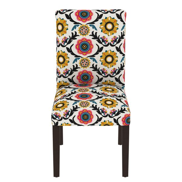 Howardwick Upholstered Solid Back Parsons Chair In Multicolor By Bungalow Rose