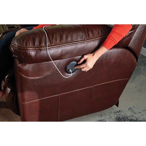 Nice Chic Milan Leather Reclining Sofa by Catnapper by Catnapper