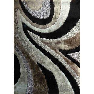Yarbrough Hand-Tufted Gray/Black Area Rug ByLatitude Run