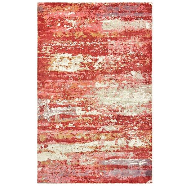 Mccutcheon Handmade Pink/Red Area Rug