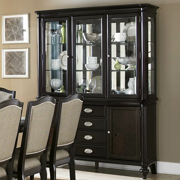 Rheems Lighted China Cabinet by Alcott Hill
