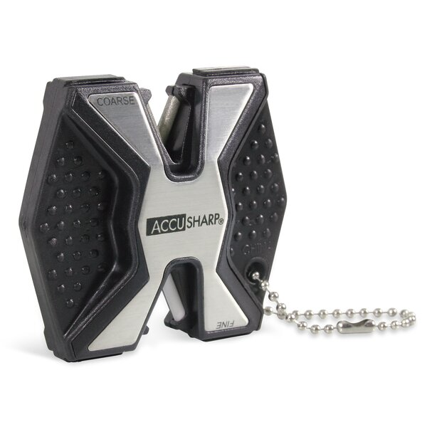 AccuSharp Pro 2 Step Diamond Coated Stainless Steel Knife Sharpener by Fortune Products