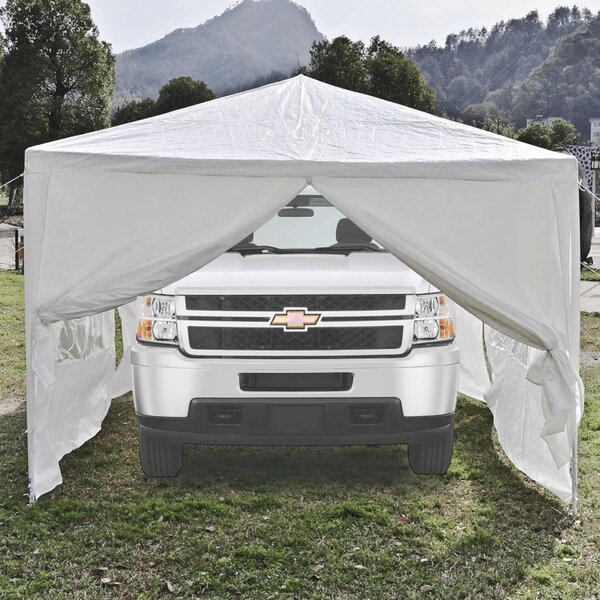 10 Ft. W X 20 Ft. D Metal Party Tent By Aleko.