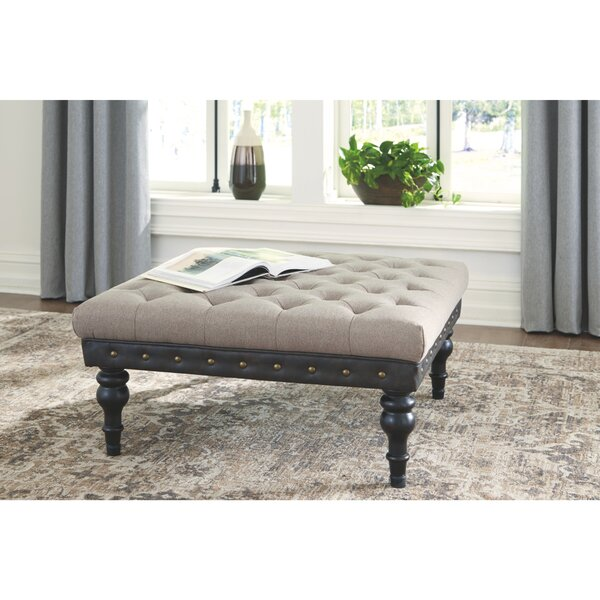 Scaife Tufted Cocktail Ottoman by Charlton Home