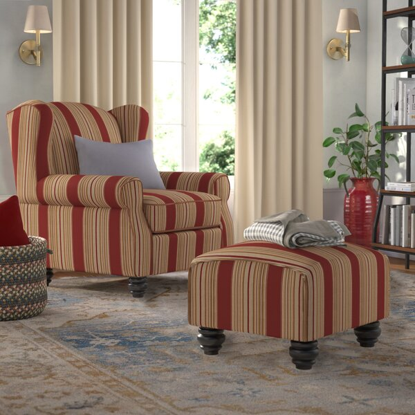 Brougham Wingback Chair And Ottoman By Darby Home Co by Darby Home Co