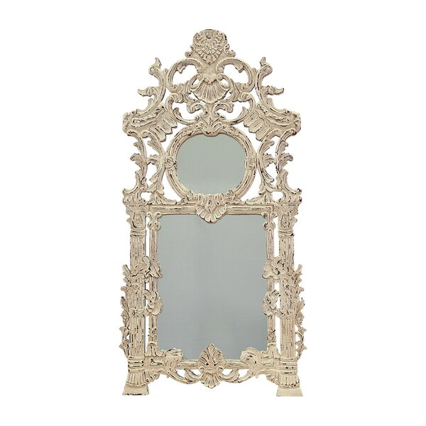 Antique White Accent Wall Mirror by One Allium Way