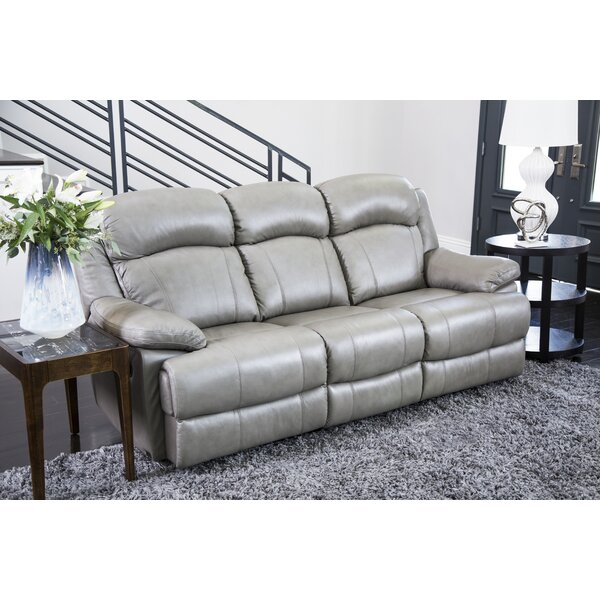 Nigel Leather Reclining Sofa by Darby Home Co
