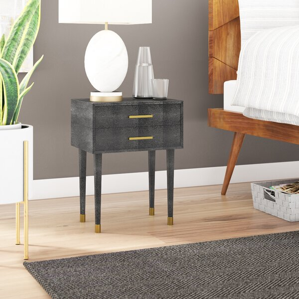 Shagreen 2 Drawer End Table by Willa Arlo Interiors Willa Arlo Interiors