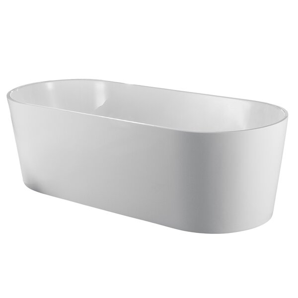 Chloe 59'' x 30'' Freestanding Soaking Bathtub by Eviva