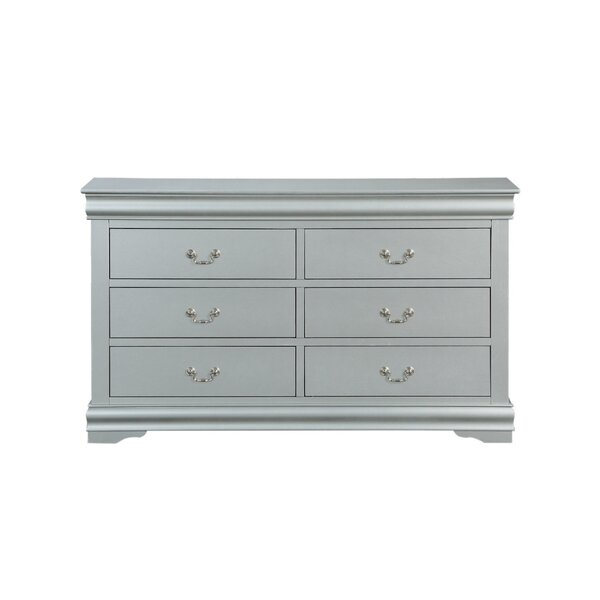 Petry Wooden 6 Drawers Double Dresser by Charlton Home