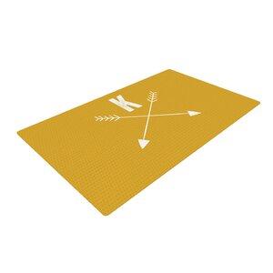Arrow Monogram Gold Area Rug