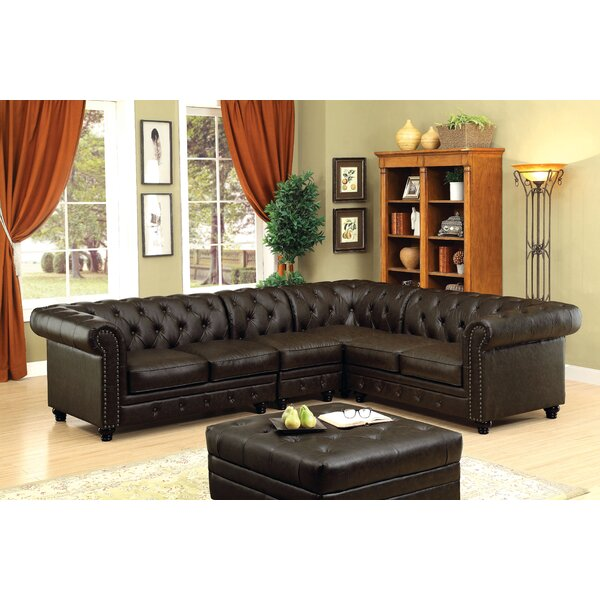 Bergfield 118.5'' Symmetrical Sectional By Darby Home Co