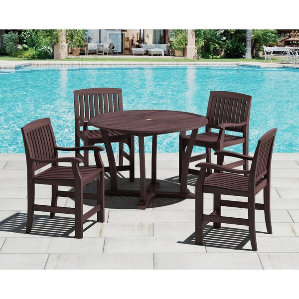 5 Piece Bar Height Dining Set by Royal Teak by Lanza Products