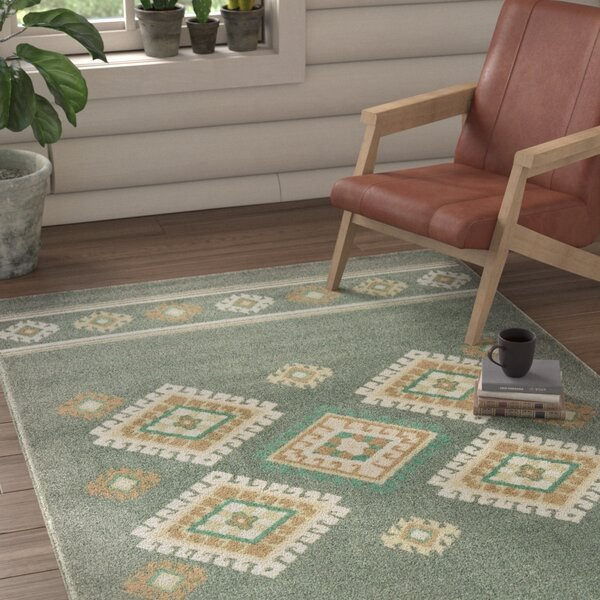Brubaker Ivory/Gray/Charcoal Area Rug by Union Rustic