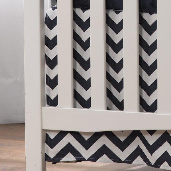 Chevron Crib Skirt by Liz and Roo Fine Baby Bedding