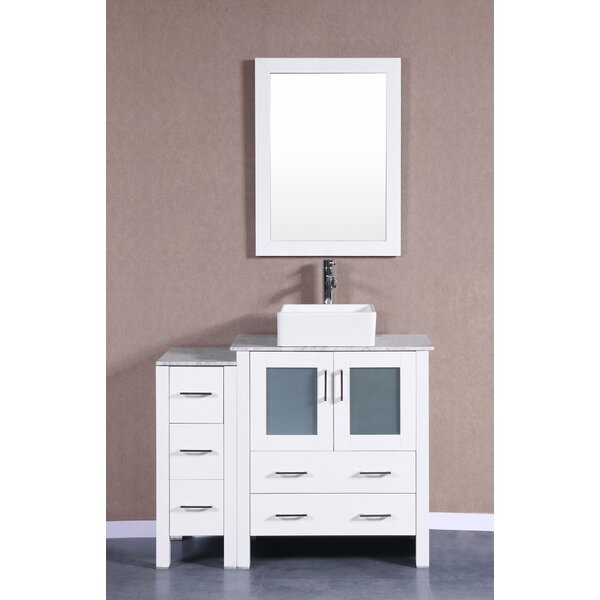 Madalyn 42 Single Bathroom Vanity Set with Mirror by Bosconi