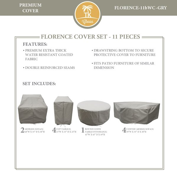 Forence 11 Piece Water Resistant Patio Furniture Cover Set by TK Classics