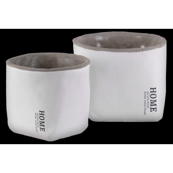 Kattie 2-Piece Cement Pot Planter Set by Gracie Oaks