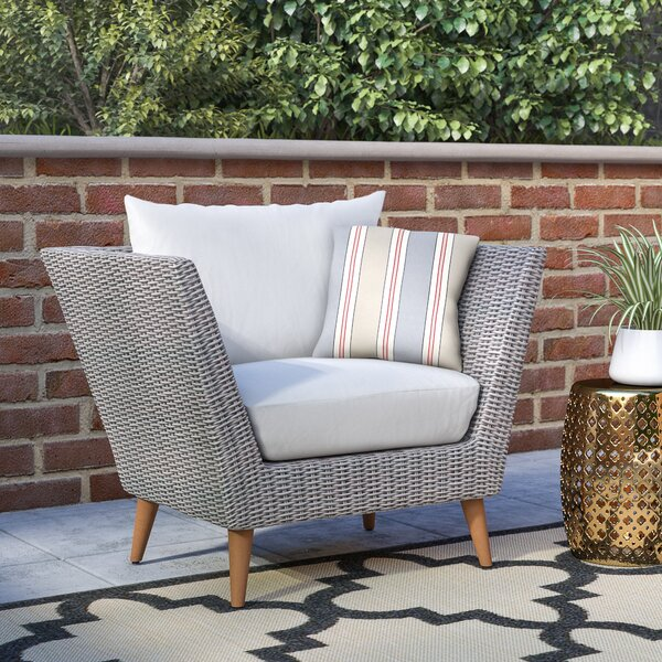 Newbury Eucalyptus Patio Arm Chair with Cushions by Langley Street