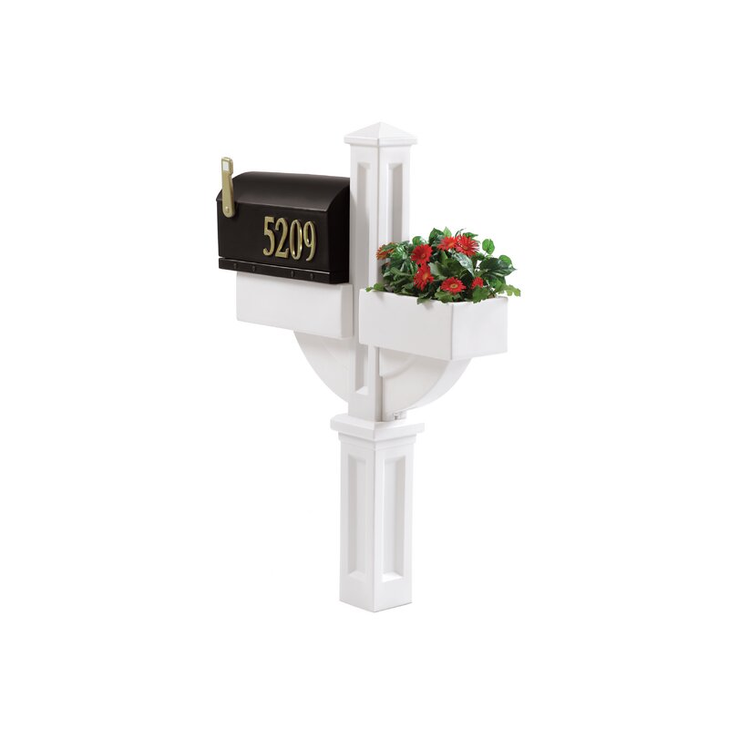 Step2 Mailmaster Hudson With Planter Post Mounted Mailbox Reviews Wayfair