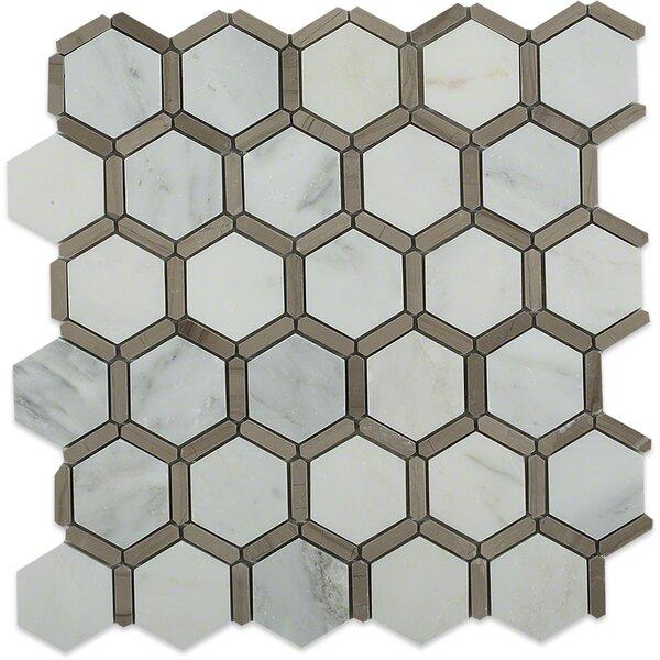 Ambrosia 2 x 2 Marble Mosaic Tile in Gray by Splashback Tile