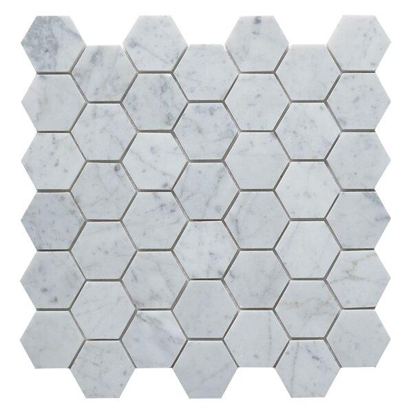 Carrara White Marble 2 x 2 Mosaic Tile