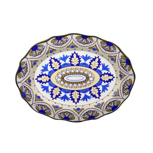 Bimini Wavy Platter by Lorren Home Trends