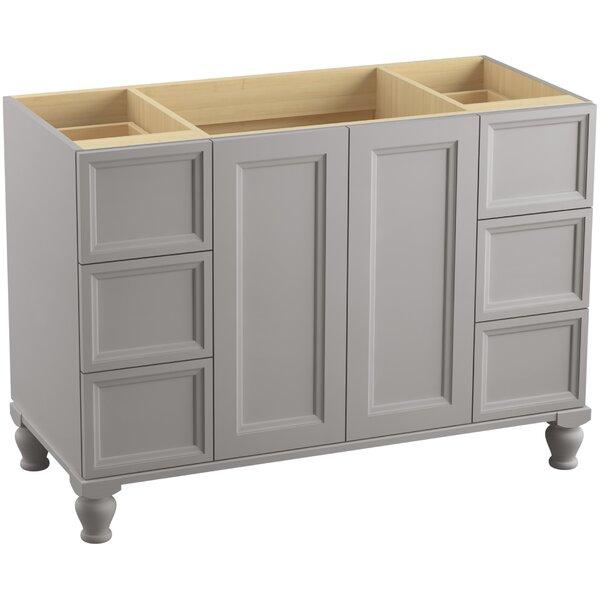 Damask™ 48 Vanity with Furniture Legs, 2 Doors and 6 Drawers, Split Top Drawers by Kohler
