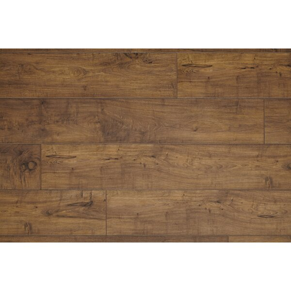 Restoration Wide Plank 8 x 51 x 12mm Woodland Maple Laminate Flooring in Fawn by Mannington