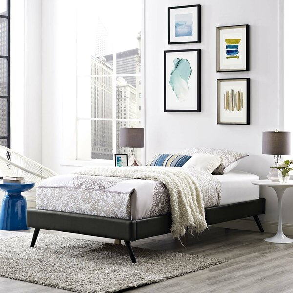 Peres Upholstered Platform Bed by Ebern Designs