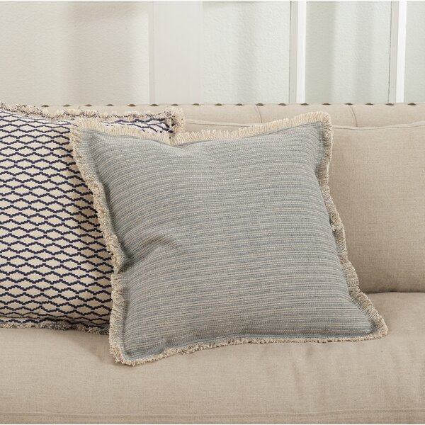 Canberra Cotton Throw Pillow by Saro