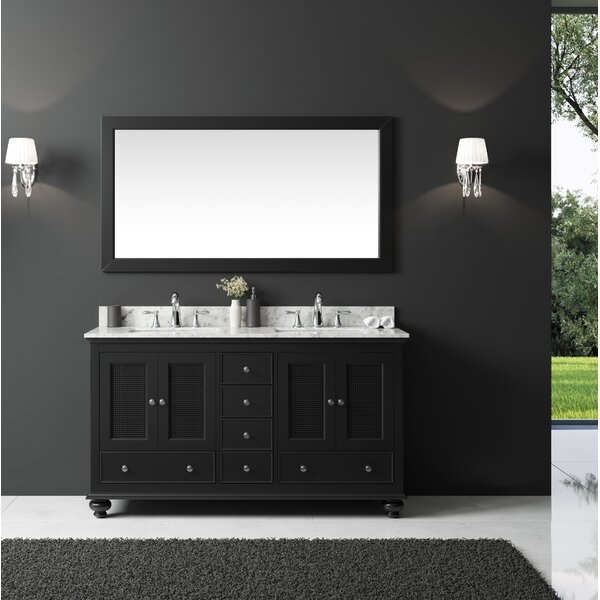 Larry 59 Double Bathroom Vanity Set with Mirror by Darby Home Co