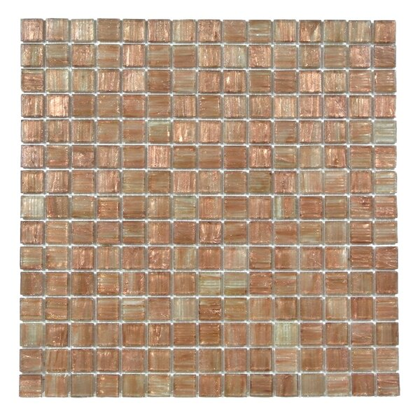 Bon Appetit 0.75 x 0.75 Glass Mosaic Tile in Light Brown by Abolos