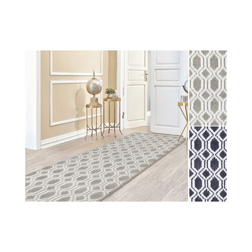 Aryan Tufted Beige/Grey Rug Breakwater Bay Rug Size: Runner