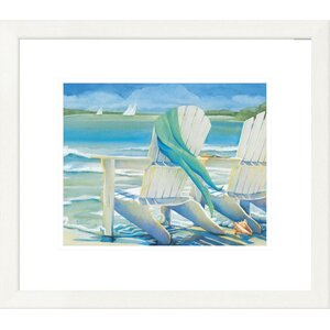 'Coastal Seaside Breeze' by Kathleen Denis Framed Graphic Art by Global Gallery