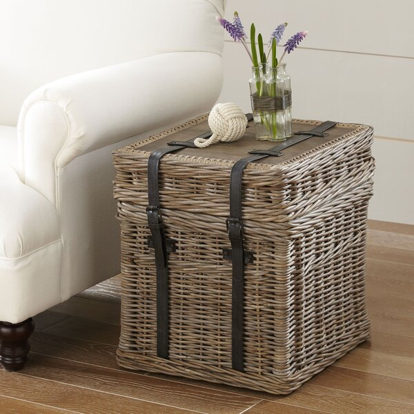 Palm Estates Rattan Side Table by Beachcrest Home